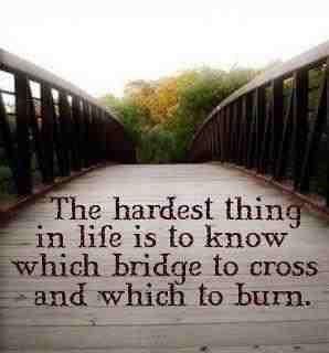 The hardest thing in life...