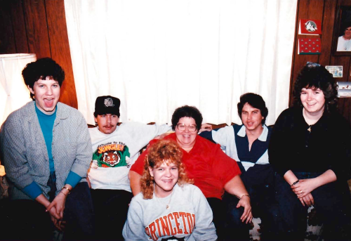 Back Row: Me, Rick, Mom, Tony Down Front: Melody